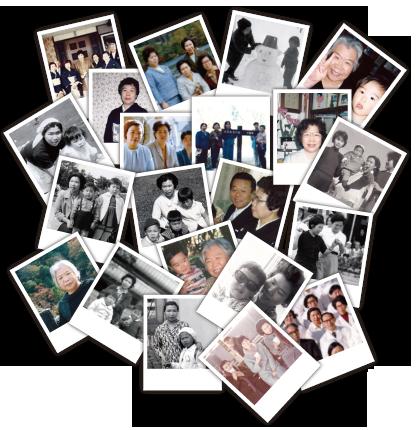 「昔の写真と思い出を鮮やかに甦らせます」イメージ